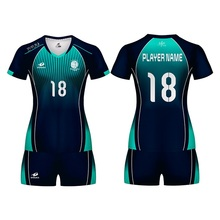 2019 New Women Volleyball Uniform Can Custom Name Sublimation Print Sports Sweatshirt Jersey