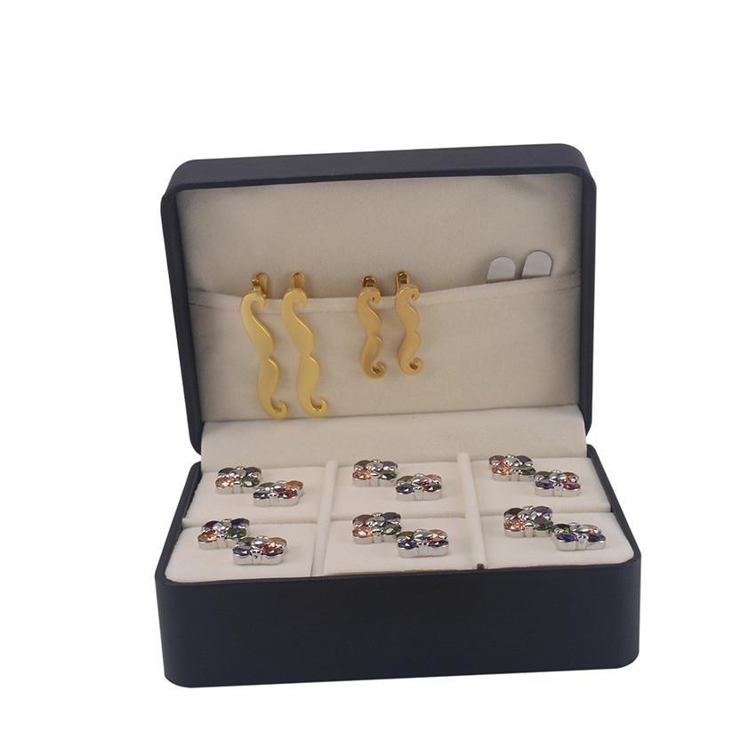 Schmuck & Zubehör Qualifiziert Savoyshi Luxus Schmuck Box Marke Neue Große Geschenk Box 6 Pairs Lagerung Manschettenknöpfe Und Krawatte Clips Set Paket 145 Perlen & Schmuck Machen 106*60mm Pu Beschichtet