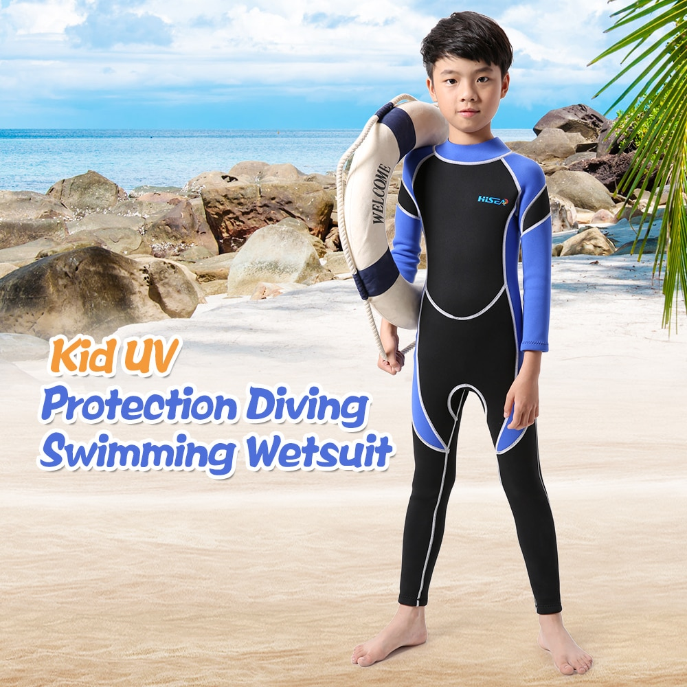 Trend Mark Kids Neoprene Diving Wetsuit Boys Girls Swimsuits Long Sleeve Uv Protection Back Zipper Swimwear One Pieces Surfing Swim Snorkel To Suit The PeopleS Convenience Home