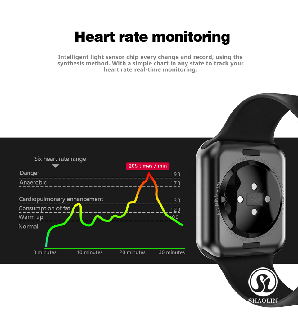 SHAOLIN Bluetooth Smart Watch Heart Rate Monitor Smartwatch Wearable Devices for apple watch iPhone IOS and Android Smartphones-08