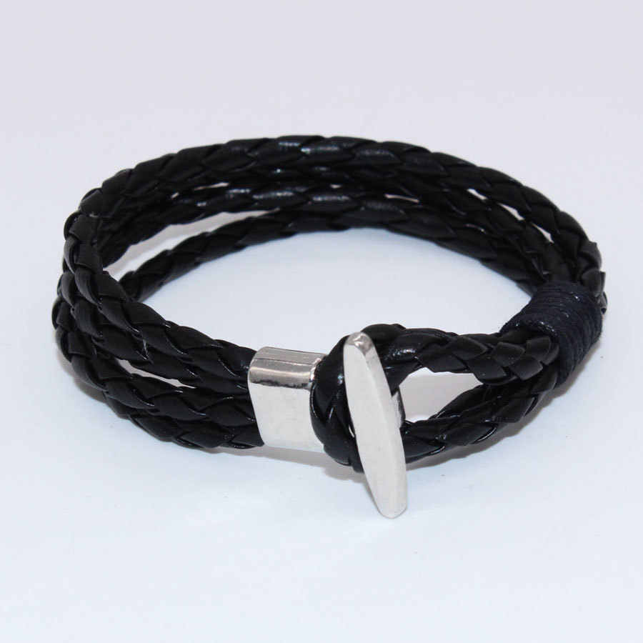wbo403 new buckle leather bracelet bracelet high-quality multi-layer leather bracelet jewelry trade