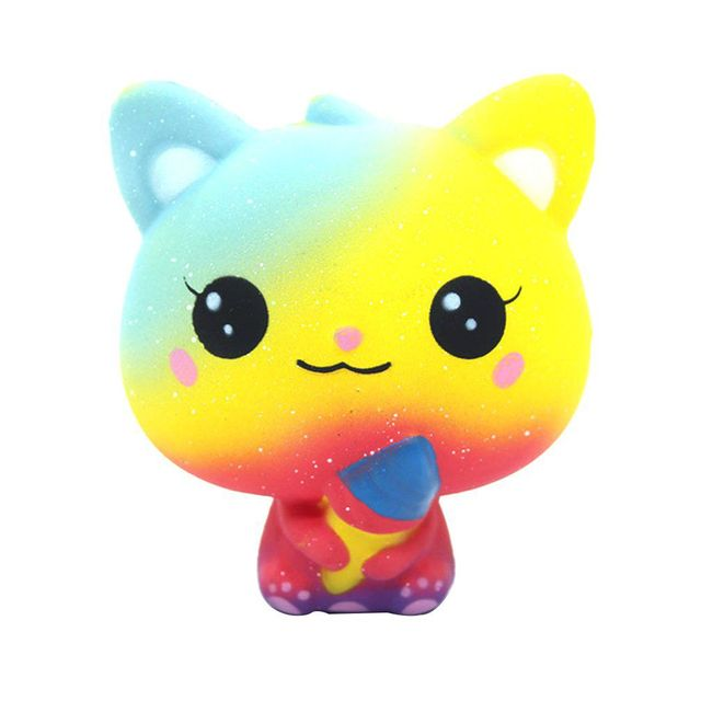 Hot Jumbo Ice Cream Cat Slow Rising Stress Relief Galaxy Toy Squishy Collections Diy Products Slow Rebound Ice Cream CatsStress Relief Toy