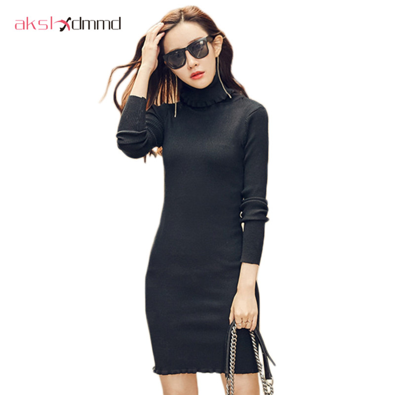 buy akslxdmmd knitted dresses 2017 new autumn and winter women 39 s knit sweater. Black Bedroom Furniture Sets. Home Design Ideas