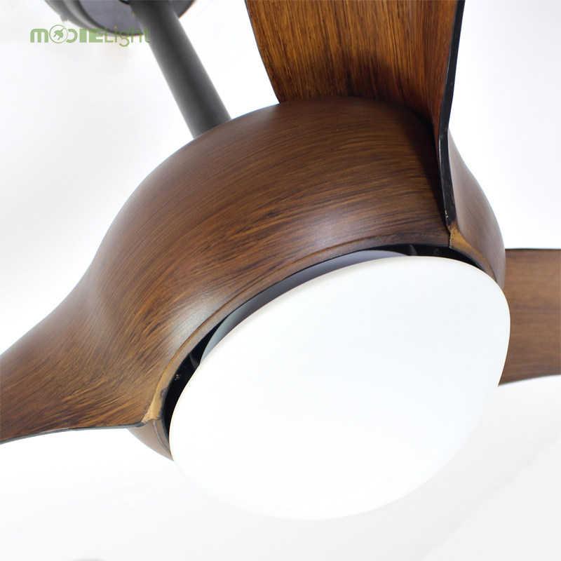 Ventilador De Techo Vintage marrón nórdico con luces Control De atenuación remoto Ventilador De Techo