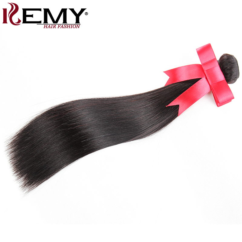 Brazilian Straight Hair Weave Bundles 1 Piece 100% Human Hair Extension 8-28 Inch Natural Color Non Remy Hair Weaving KEMY HAIR