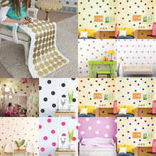Mini Polka Dots Wall Sticker Nursery Kids Rooms Children Wall Decals Refrigerator Home Decor DIY Art Wall Decoration
