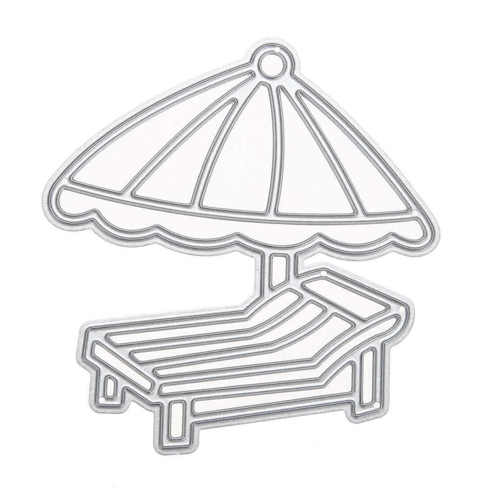 Beach chair and umbrella sketch - Metal Cutting Dies For Scrapbooking Beach Chair Umbrella Handmade Embossing Card Album Decoration Craft Dies Cut