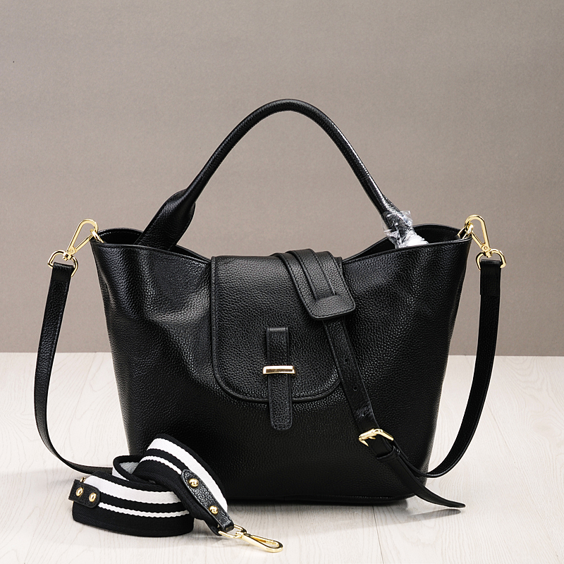 New Luxury Handbags Women Bags Designer Large Bucket Tote Bags Hasp Soft Genuine Leather Knit Strap Crossbody Bag Bolsa Feminina high quality women s bucket shoulder bags genuine leather handbags soft large capacity casual crossbody bag lady bolsas feminina