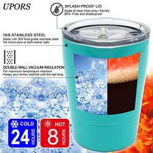 UPORS 8OZ Tumbler Stainless Steel Coffee Mug Double Wall Vacuum Insulated Tea Cup With Lid Travel Mug Yerba Mate Gourd