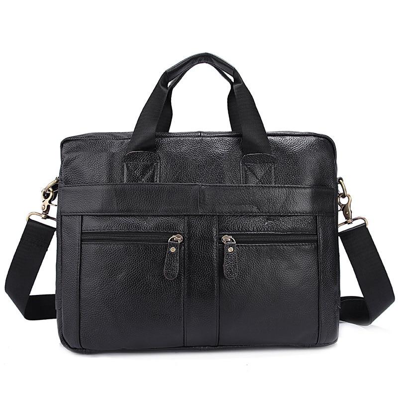 Men Briefcase Genuine Leather Business Men Handbag Totes Laptop Bag Single Shoulder Messenger Bag все цены