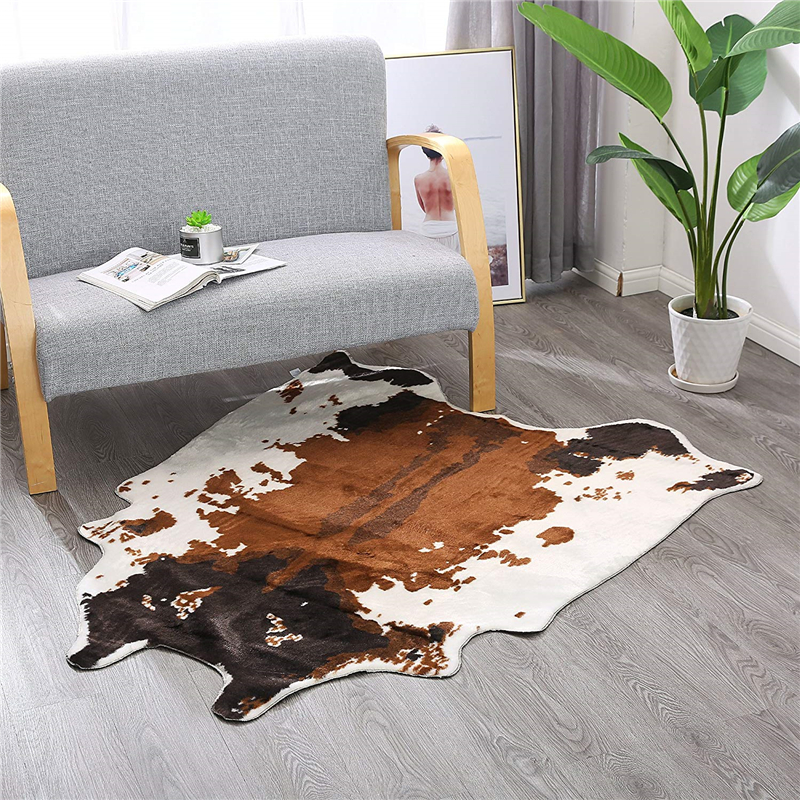 Us 43 09 50 Off Soft Cow Theme Living Room Carpet 135x140cm Bedroom Floor Mats And Rugs Perfect Throw Rug For Kitchen Lounge Office In