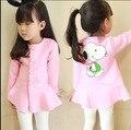 Otoño 2016 niños niñas bebé 2-6years ropa las muchachas algodón caliente chicas sudaderas guapo fresco ropa de los niños coreanos