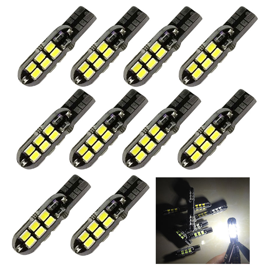 10PCS T10 24 SMD Car Side Wedge Dome Map Bulb W5W 194 168 2835 CAN BUS Error Free Automotive Lamp Car Led Lights Auto Lamp велес велес шторы с ламбрекеном скарлет