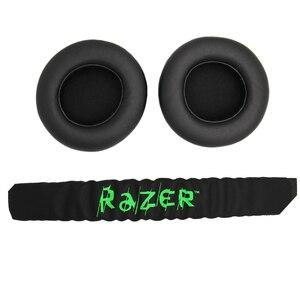 Image 2 - Almofada para fones de ouvido gamer, substituição de forro acolchoado para Razer Kraken Pro 7.1 ou Electra