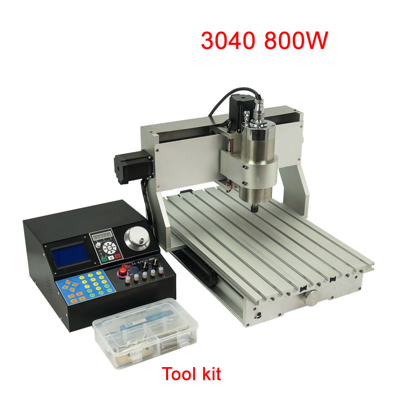 DIY mini cnc industrial router 3040 800W 3axis for cutting metal wood acrylic with Mach3 control softwareDIY mini cnc industrial router 3040 800W 3axis for cutting metal wood acrylic with Mach3 control software
