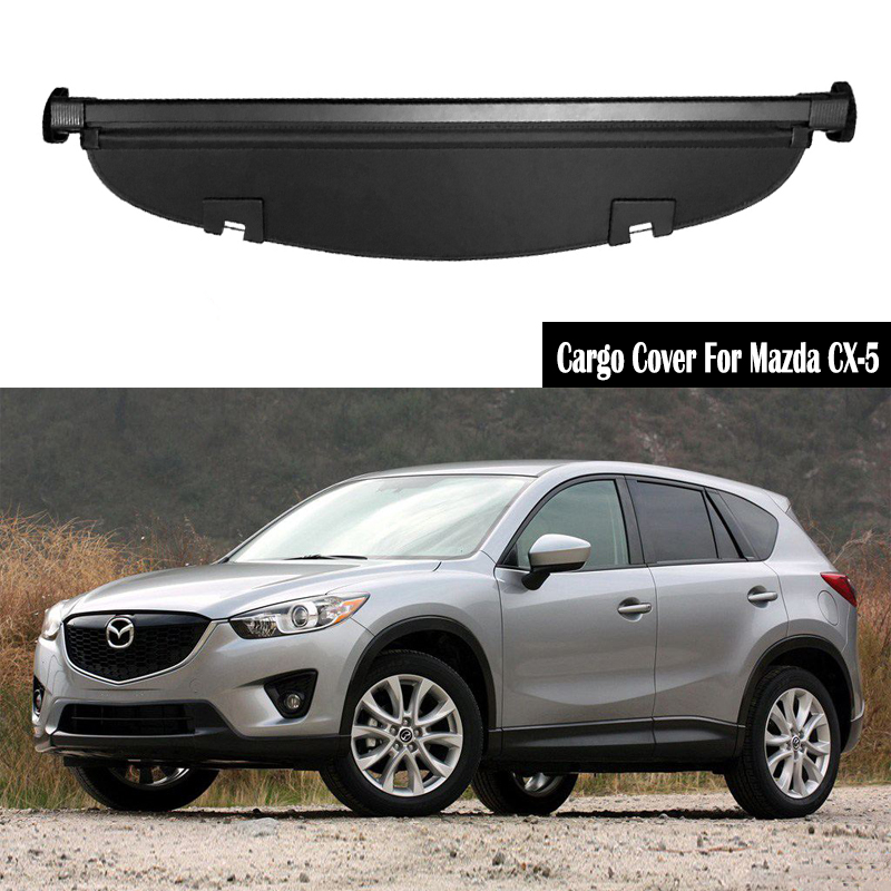 Rear Cargo Cover For <font><b>Mazda</b></font> <font><b>CX</b></font>-<font><b>5</b></font> CX5 2012 2013 2014 2015 <font><b>2016</b></font> privacy Trunk Screen Security Shield shade Auto <font><b>Accessories</b></font> image