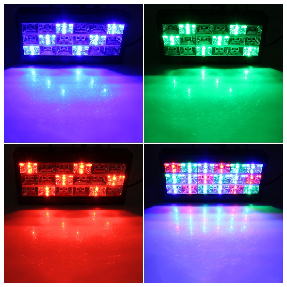 Image 5 - 18 LED Strobe Stage Lighting Effect  RGB Sound Remote Control for Disco DJ Bar Holiday Party Christmas Flash Sound Active Light-in Stage Lighting Effect from Lights & Lighting
