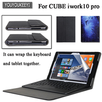 High quality Business PU Leather Case for Cube iwork10 pro iwork10 ultimate 10.1, While protecting the keyboard and tablet