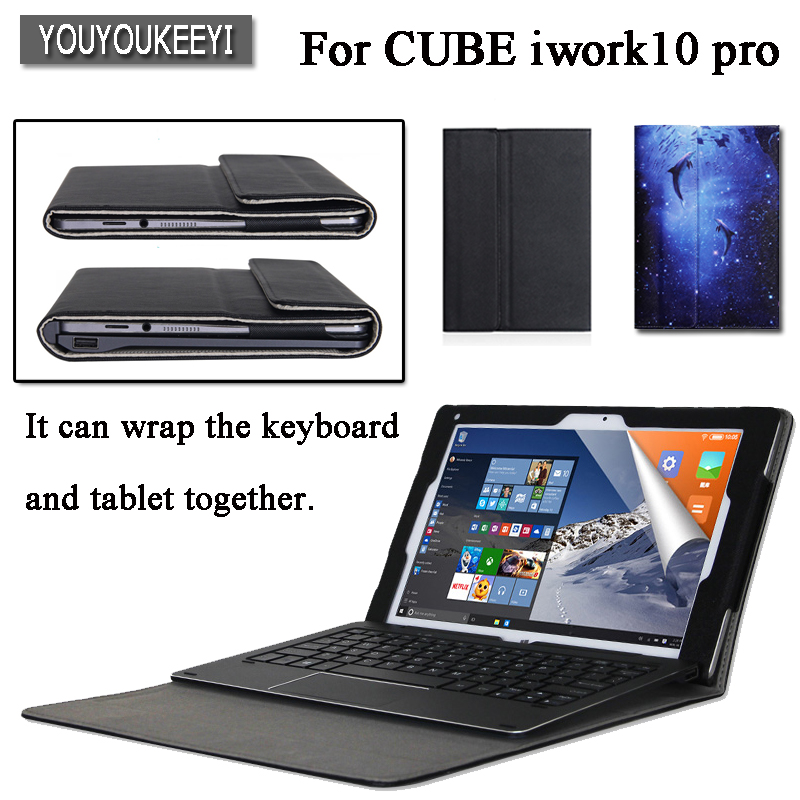 все цены на High quality Business PU Leather Case for Cube iwork10 pro iwork10 ultimate 10.1