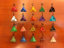 D4 digital bosons props dice yiwu toy / Polyhedron 4 face digital dice