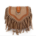 2017 Fashion Small Tassel Bag Women Bags Ladies Casual PU Leather Fringe Saddle Crossbody Messenger Shoulder Bag Bolsa Feminina
