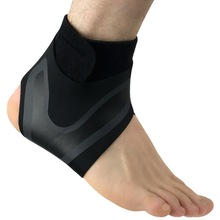 1PC Black Right Left Foot Ankle Protector Sports Support Elastic Brace Guard Gear