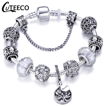 CUTEECO, Прямая поставка, новинка, AAA, циркон, очаровательный браслет для женщин, подходит для брендового браслета, ювелирное изделие, сделай сам, ручная работа, подарки для девушек