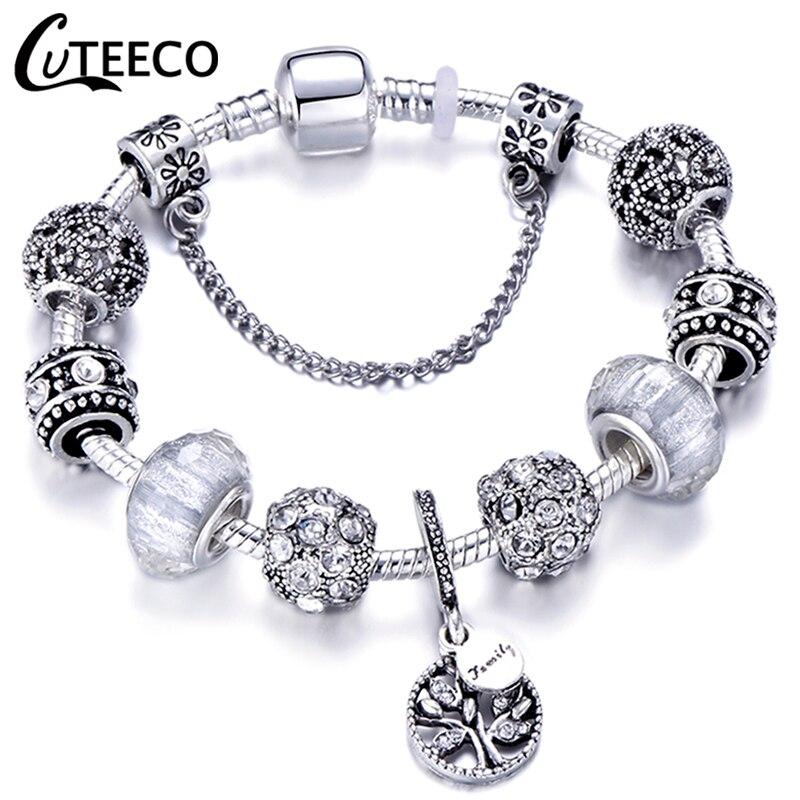 CUTEECO Dropshipping 2018 New AAA Zircon Charm Bracelet for Women Fit Brand Bracelet Jewelry DIY Handmade Girlfriend Gifts пандора браслет с шармами