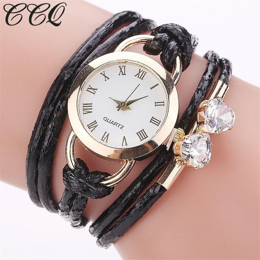 CCQ Brand Fashion Women Bracelet Watches Gold Crystal Dress Watch Casual Luxury Ladies Quartz Watch Clock Drop Shipping wi fi точка доступа роутер tp link tl wr841n