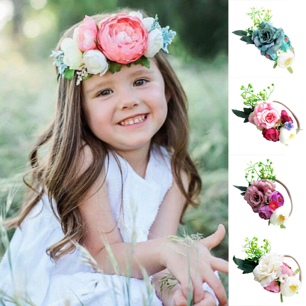 1pc cute baby girl headband toddler infant girl flower headband