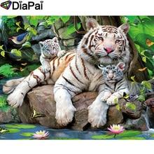 DIAPAI 100% Full Square/Round Drill 5D DIY Diamond Painting Animal tiger Diamond Embroidery Cross Stitch 3D Decor A21085 diapai 5d diy diamond painting 100% full square round drill animal cat tiger diamond embroidery cross stitch 3d decor a22099