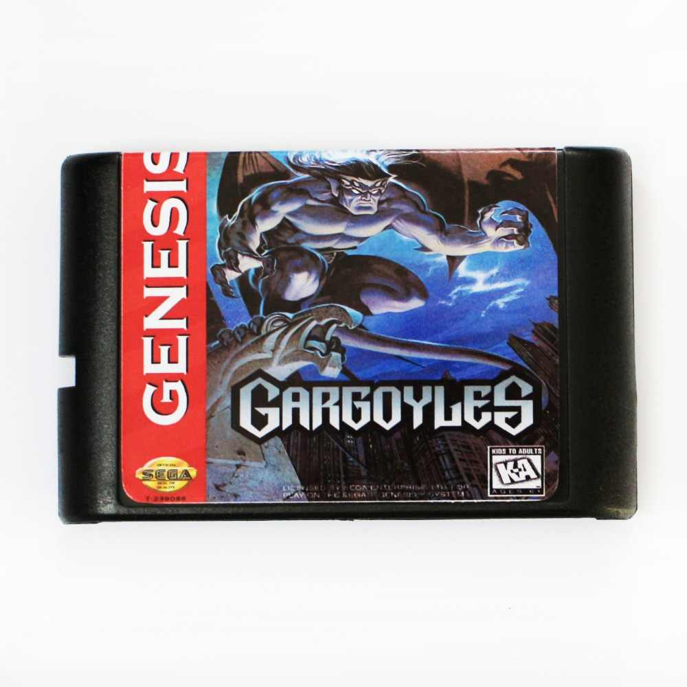 Gargoyles Game Cartridge Newest 16 bit Game Card For Sega Mega Drive / Genesis System