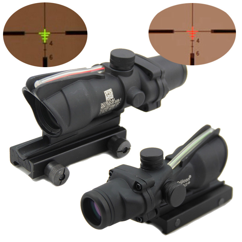new arrival tactical hunting trijicon acog 4x32 fiber source
