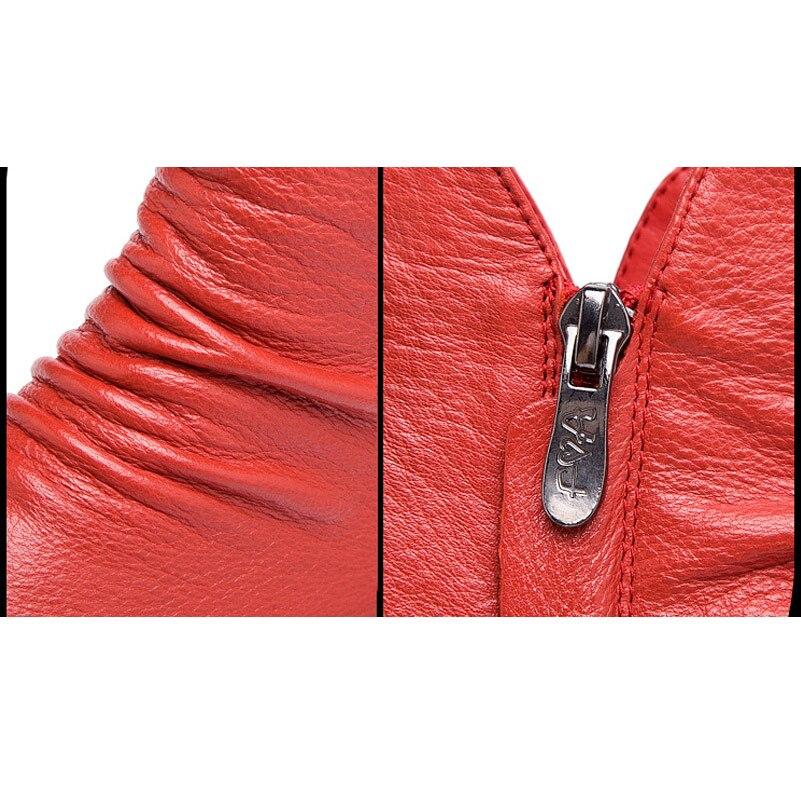 Top Casual Tissé Snurulan Plat En Plissé Courtes Haute Chaussures Zipper Automne marron De Mode Noir Doux Véritable rouge Bottes 2017 pourpre Cuir Cheville Femmes gris qzwaTnqU