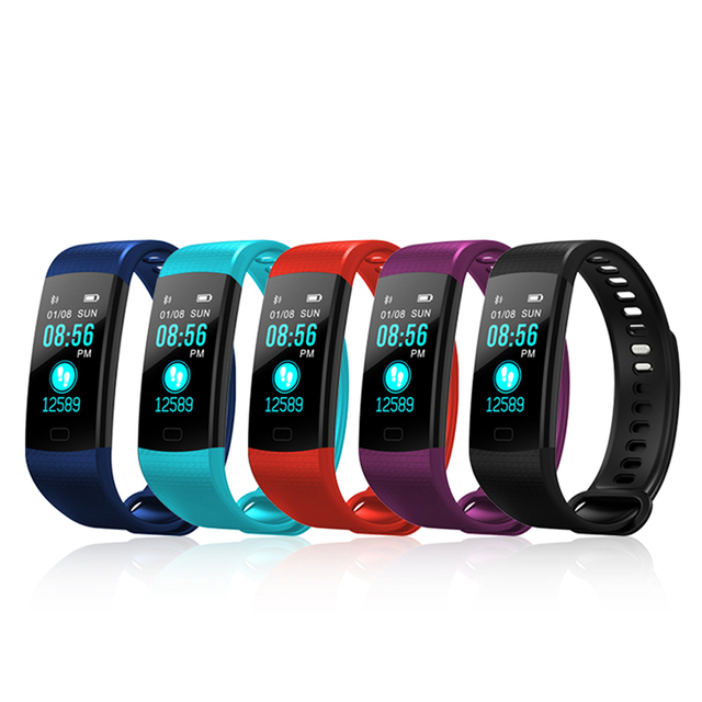 Fitness Activity Heart Rate Tracker Blood Pressure wristband Waterproof band Pedometer for IOS Android 2