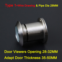 Designed 5PCS Home Security 260 Degree Wide Angle Door Viewer Peep Brass Sight Hole Wire Drawing for Oepning Size 28-32mm E168
