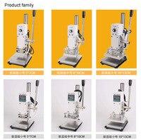Hot Foil Stamping Pressure Mark Machine 5 7cm Manual Bronzing Machine For PVC Leather PU And