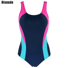 Riseado 2018 One Piece Swimsuit Swimwear Women Sports Backless Bodysuits Women's Swimsuits Splice Bathing Suits