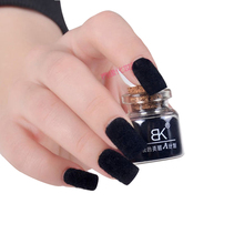 BK Brand 24 Colors Decorate Velvet Fiber Powder Nail Polish Professional Nail Varnish Art Cosmetics(China)