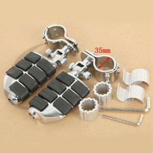 Image 3 - Repose pieds chromé à double autoroute de moto, pour Honda GoldWing GL1500 GL1100 GL1200, Harley, 25mm, 30mm, 35mm, YAMAHA XV250