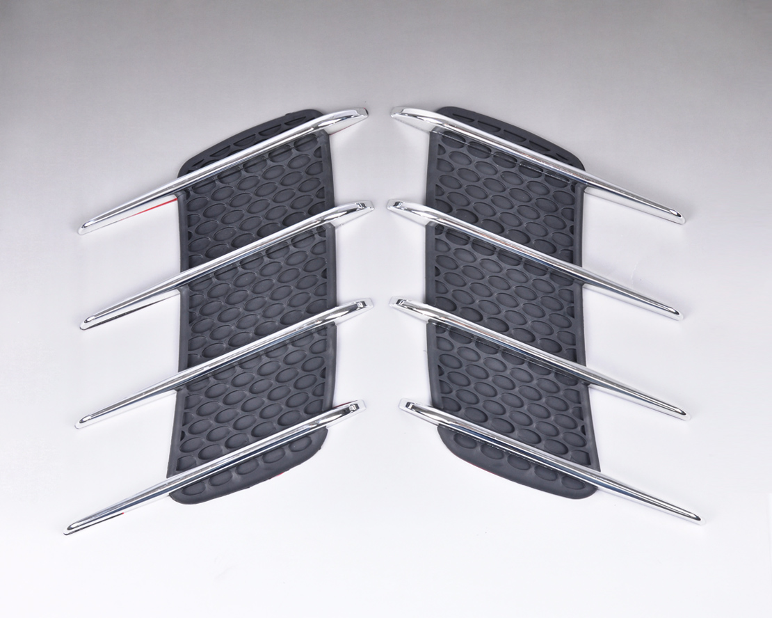 DWCX Car Side Air Vent Fender Cover Hole Intake Duct Flow Grille Decorate Sticker for Hyundai VW Ford Audi Renault Nissan Toyota frp fiber glass front headlight vented air duct cover replacement lhs tuning parts for nissan skyline r32 gtr gts