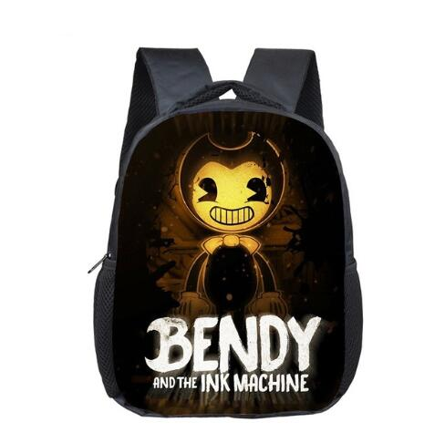12 Inch Bendy And The Ink Machine Kindergarten Infantile Small School Bag Cartoon Bookbag Children Baby Toddler Bag Kid Backpack