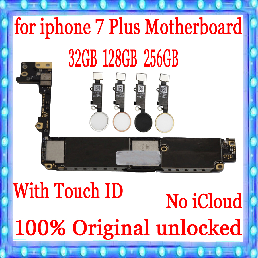 for iphone 7 Plus Motherboard Factory unlocked Mainboard With / Without Touch ID,100% Original for iphone 7 Plus 7P Logic boardfor iphone 7 Plus Motherboard Factory unlocked Mainboard With / Without Touch ID,100% Original for iphone 7 Plus 7P Logic board