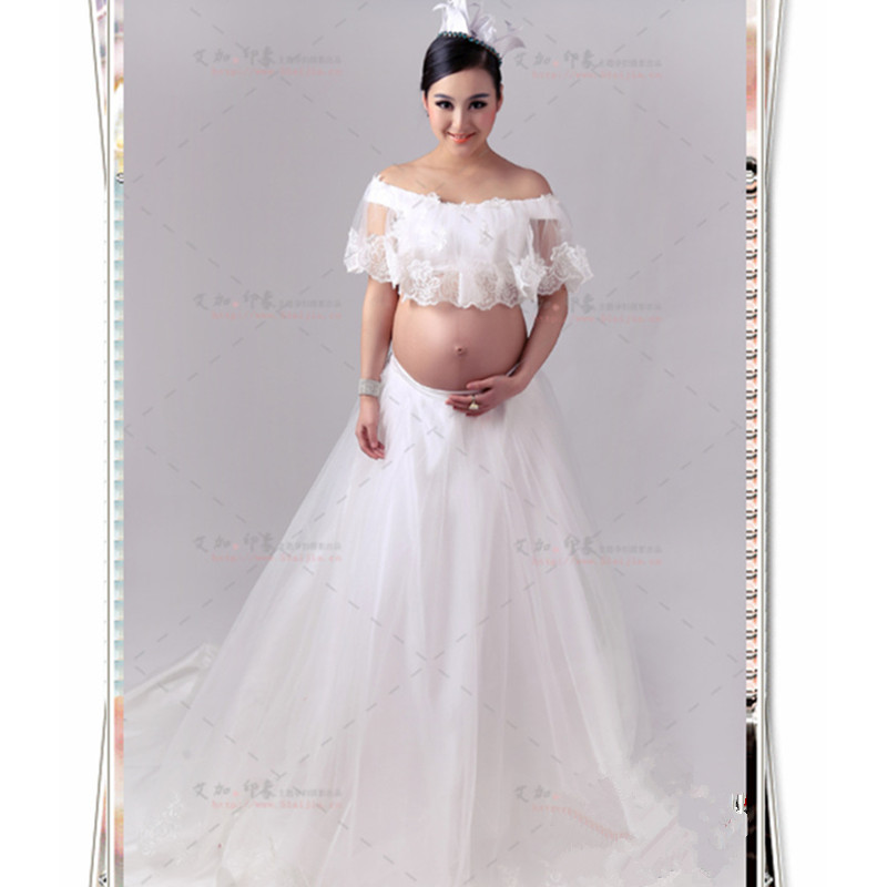 Maternity Photography Props Fancy Maternity Dresses Pregnant Clothes Lace Dress Photography Maternity photo shoot Dress photo shoot