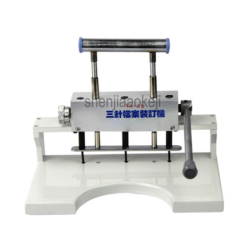 New 3 hole drilling machine Paper Punch machine for document Book binding machine Manual three-hole punching machine 1pc 1pc brand new and high quality paper cutting punch combination punching hole pattern in three file binding machine