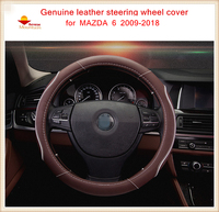 High Quality Genuine Leather Car Steering Wheel Covers Fit For MAZDA 6 2009 2018