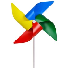 3 pcs/set  plastic windmill  Classic Toys solids multicolors Wind Spinner Whirligig Garden Windmill plastic Toy for children