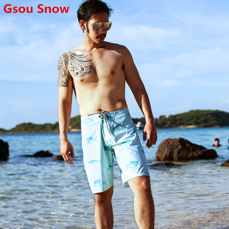 New GS swimming   shorts   de bain homme mens   board     shorts   swimwear men swimwear bermuda surf swimming boardshorts beach trunk