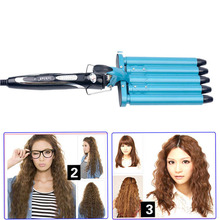 Hot 5 Barrels Big Wave Hair Curlers Rollers 110-240V Electric Hair Curler Woman Curling Iron Tong Professional Hair Curling Wand