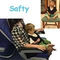 Nuevo Chaleco Plano Recorrido Del Tren de Coche de Bebé Asiento de Seguridad Portátil Niños Cinturón de seguridad Arnés de Seguridad Negro Tirantes Accesorios 70Z2043